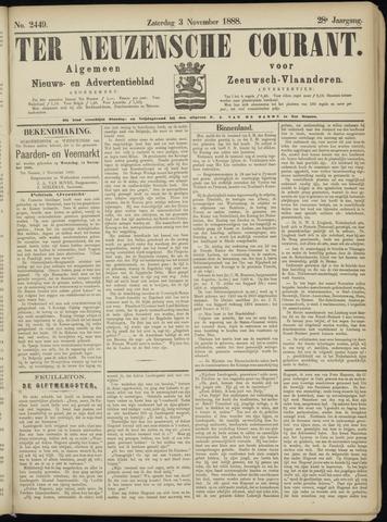 Ter Neuzensche Courant. Algemeen Nieuws- en Advertentieblad voor Zeeuwsch-Vlaanderen / Neuzensche Courant ... (idem) / (Algemeen) nieuws en advertentieblad voor Zeeuwsch-Vlaanderen 1888-11-03