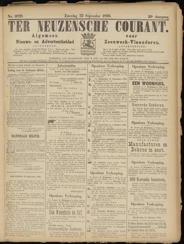 Ter Neuzensche Courant. Algemeen Nieuws- en Advertentieblad voor Zeeuwsch-Vlaanderen / Neuzensche Courant ... (idem) / (Algemeen) nieuws en advertentieblad voor Zeeuwsch-Vlaanderen 1899-09-23