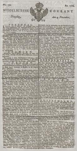 Middelburgsche Courant 1777-11-04