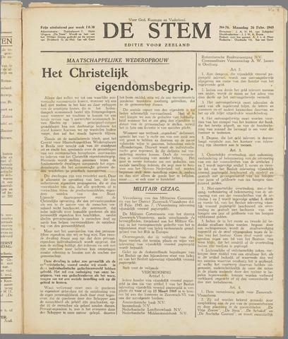 de Stem 1945-02-26