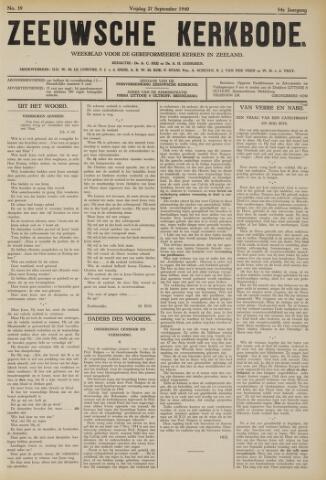 Zeeuwsche kerkbode, weekblad gewijd aan de belangen der gereformeerde kerken/ Zeeuwsch kerkblad 1940-09-27
