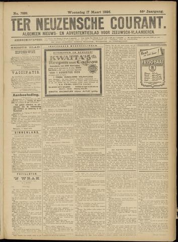 Ter Neuzensche Courant. Algemeen Nieuws- en Advertentieblad voor Zeeuwsch-Vlaanderen / Neuzensche Courant ... (idem) / (Algemeen) nieuws en advertentieblad voor Zeeuwsch-Vlaanderen 1926-03-17