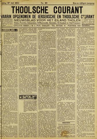 Ierseksche en Thoolsche Courant 1934-07-27