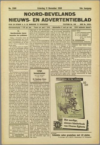 Noord-Bevelands Nieuws- en advertentieblad 1950-11-11