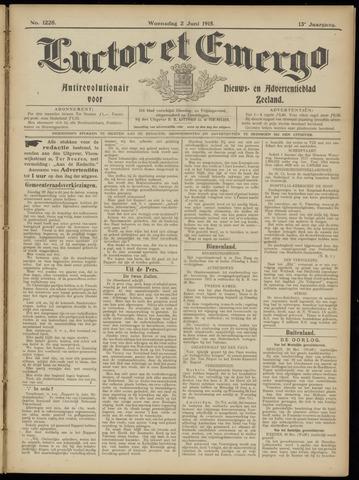 Luctor et Emergo. Antirevolutionair nieuws- en advertentieblad voor Zeeland / Zeeuwsch-Vlaanderen. Orgaan ter verspreiding van de christelijke beginselen in Zeeuwsch-Vlaanderen 1915-06-02