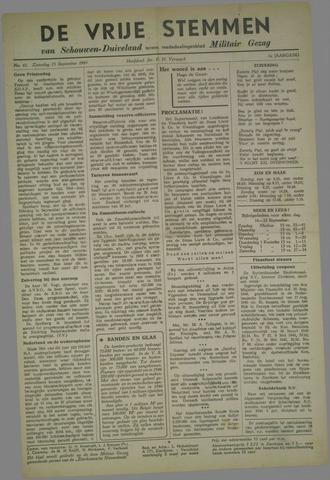 Vrije Stemmen van Schouwen-Duiveland, tevens mededeelingenblad Militair Gezag 1945-09-15