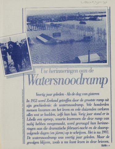 Watersnood documentatie 1953 - krantenknipsels 1993