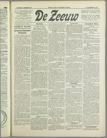 De Zeeuw. Christelijk-historisch nieuwsblad voor Zeeland 1937-08-28