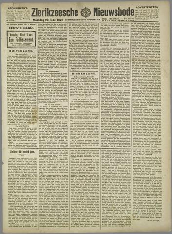 Zierikzeesche Nieuwsbode 1922-02-20
