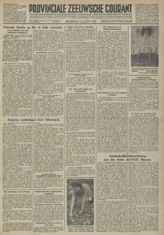Provinciale Zeeuwse Courant 1942-06-22