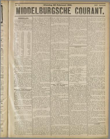 Middelburgsche Courant 1921-02-22