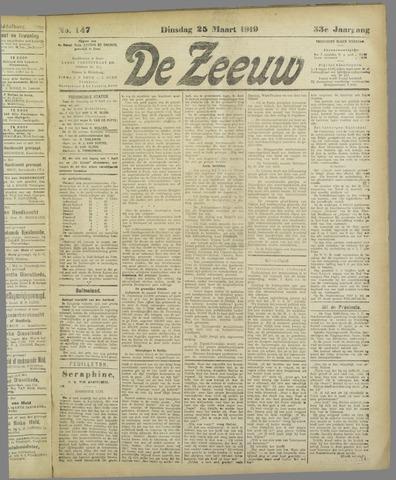 De Zeeuw. Christelijk-historisch nieuwsblad voor Zeeland 1919-03-25