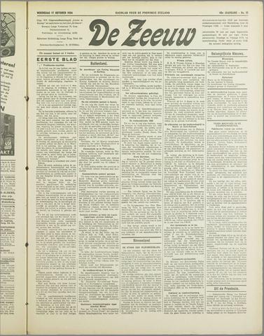 De Zeeuw. Christelijk-historisch nieuwsblad voor Zeeland 1934-10-17