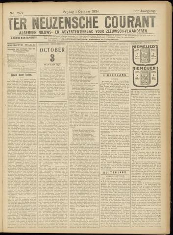 Ter Neuzensche Courant. Algemeen Nieuws- en Advertentieblad voor Zeeuwsch-Vlaanderen / Neuzensche Courant ... (idem) / (Algemeen) nieuws en advertentieblad voor Zeeuwsch-Vlaanderen 1926-10-01