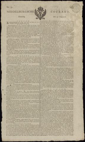 Middelburgsche Courant 1814-08-27