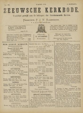 Zeeuwsche kerkbode, weekblad gewijd aan de belangen der gereformeerde kerken/ Zeeuwsch kerkblad 1890-04-12