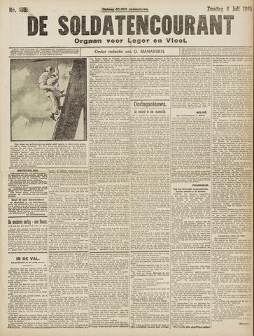 De Soldatencourant. Orgaan voor Leger en Vloot 1915-07-04