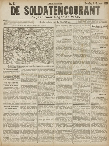 De Soldatencourant. Orgaan voor Leger en Vloot 1916-10-01