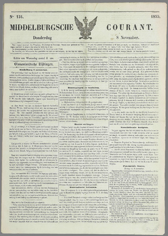 Middelburgsche Courant 1855-11-08