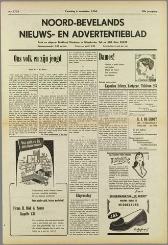 Noord-Bevelands Nieuws- en advertentieblad 1954-11-06