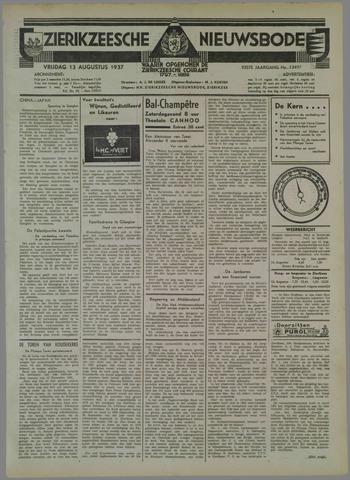 Zierikzeesche Nieuwsbode 1937-08-13