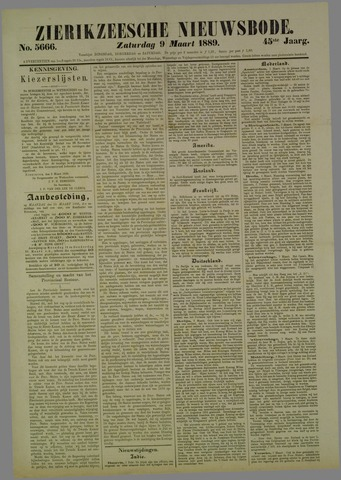 Zierikzeesche Nieuwsbode 1889-03-09