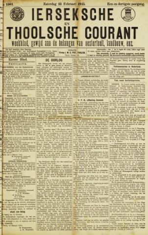 Ierseksche en Thoolsche Courant 1915-02-13