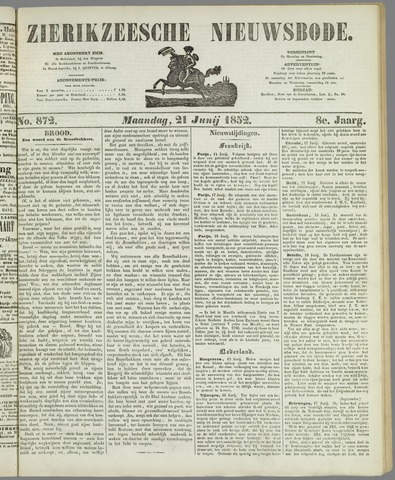 Zierikzeesche Nieuwsbode 1852-06-21