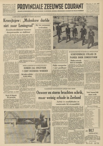 Provinciale Zeeuwse Courant 1957-07-08