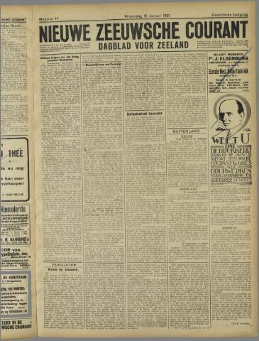 Nieuwe Zeeuwsche Courant 1921-01-19