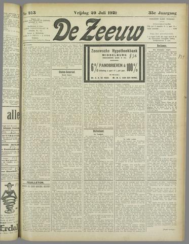 De Zeeuw. Christelijk-historisch nieuwsblad voor Zeeland 1921-07-29