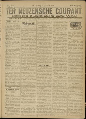 Ter Neuzensche Courant. Algemeen Nieuws- en Advertentieblad voor Zeeuwsch-Vlaanderen / Neuzensche Courant ... (idem) / (Algemeen) nieuws en advertentieblad voor Zeeuwsch-Vlaanderen 1926-01-13