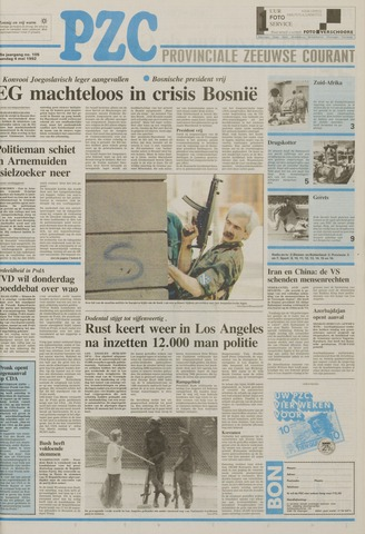Provinciale Zeeuwse Courant 1992-05-04