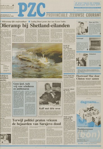 Provinciale Zeeuwse Courant 1993-01-06