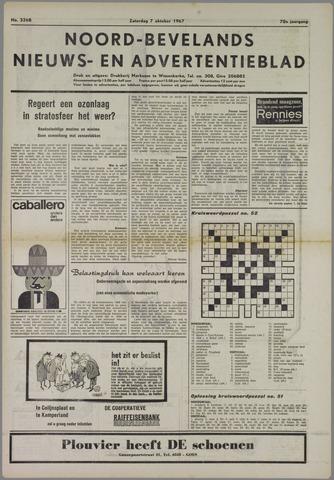 Noord-Bevelands Nieuws- en advertentieblad 1967-10-07