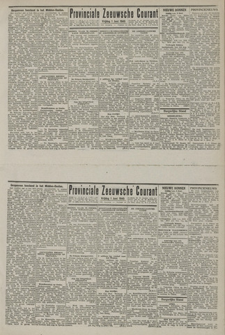 Provinciale Zeeuwse Courant 1945-06-01