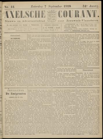 Axelsche Courant 1918-09-07