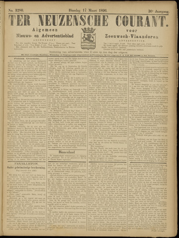 Ter Neuzensche Courant. Algemeen Nieuws- en Advertentieblad voor Zeeuwsch-Vlaanderen / Neuzensche Courant ... (idem) / (Algemeen) nieuws en advertentieblad voor Zeeuwsch-Vlaanderen 1896-03-17