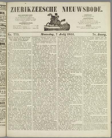 Zierikzeesche Nieuwsbode 1851-07-07