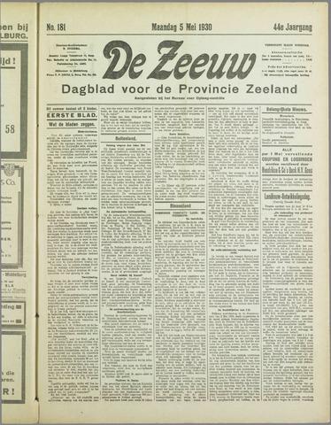 De Zeeuw. Christelijk-historisch nieuwsblad voor Zeeland 1930-05-05