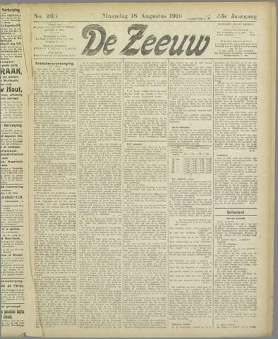 De Zeeuw. Christelijk-historisch nieuwsblad voor Zeeland 1919-08-18