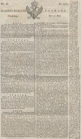 Middelburgsche Courant 1764-05-10