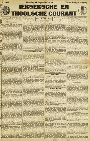 Ierseksche en Thoolsche Courant 1920-09-18