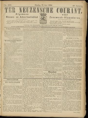 Ter Neuzensche Courant. Algemeen Nieuws- en Advertentieblad voor Zeeuwsch-Vlaanderen / Neuzensche Courant ... (idem) / (Algemeen) nieuws en advertentieblad voor Zeeuwsch-Vlaanderen 1904-06-28