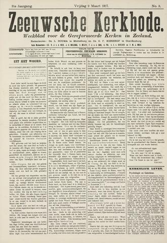 Zeeuwsche kerkbode, weekblad gewijd aan de belangen der gereformeerde kerken/ Zeeuwsch kerkblad 1917-03-02