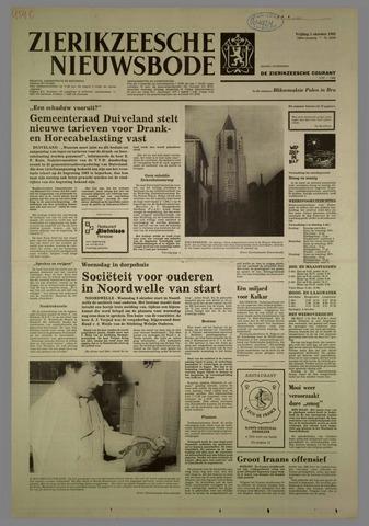 Zierikzeesche Nieuwsbode 1982-10-01