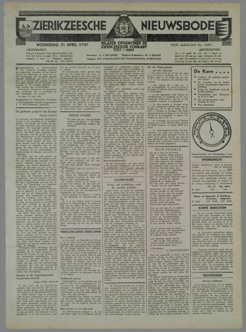 Zierikzeesche Nieuwsbode 1937-04-21
