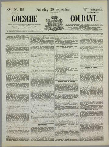 Goessche Courant 1884-09-20