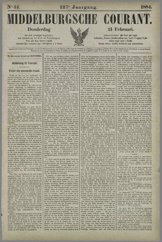 Middelburgsche Courant 1884-02-21