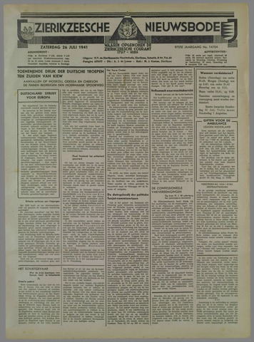 Zierikzeesche Nieuwsbode 1941-07-27